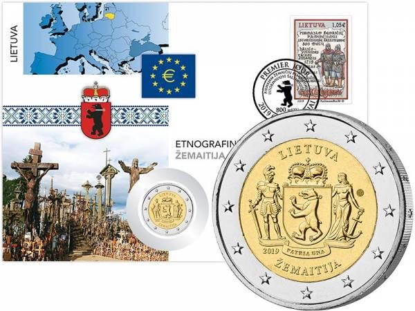 2 Euro Numisbrief Litauen Ethnographische Regionen Zemaitija 2019