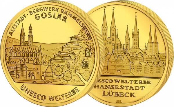 2 x 100 Euro BRD Goslar und Lübeck 2007 + 2008