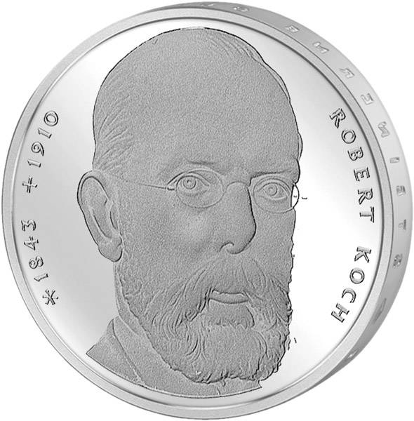 10 DM BRD  Robert Koch 1993 J vorzüglich