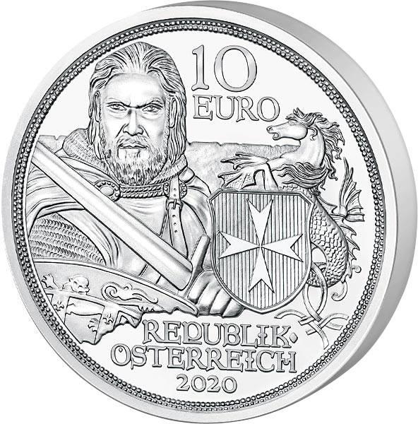 10 Euro Österreich Mit Kettenhemd und Schwert Standhaftigkeit 2020
