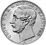 Taler Vereinstaler Georg V. 1851-1866  vz-st