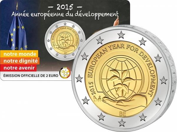 2 Euro Belgien Europäisches Jahr der Entwicklung 2015