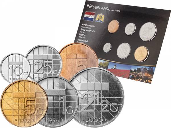 Kursmünzensatz Niederlande 1982-2001