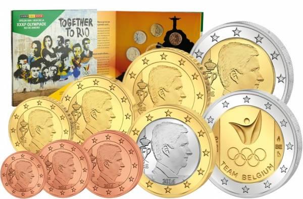 Euro-Kursmünzensatz Belgien 2016 inklusive 2-Euro-Gedenkmünze 2016