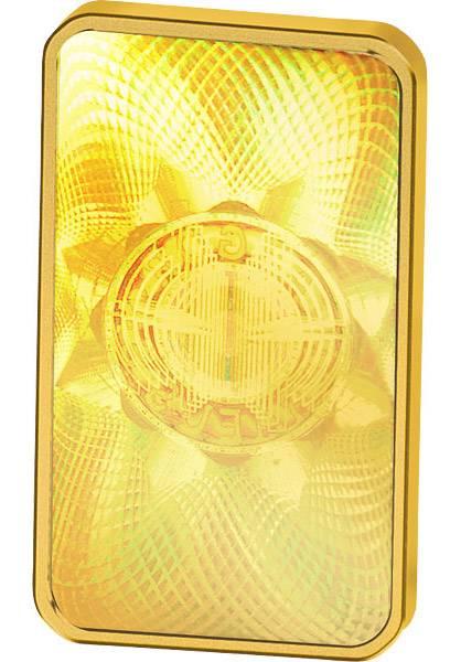 5 Gramm Goldbarren Heraeus Kinebar