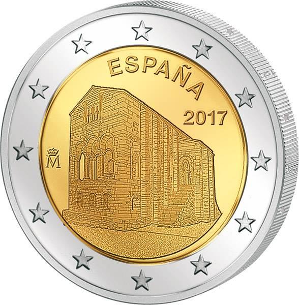 2 Euro Spanien Monumente von Oviedo und Fürstentum Asturien 2017