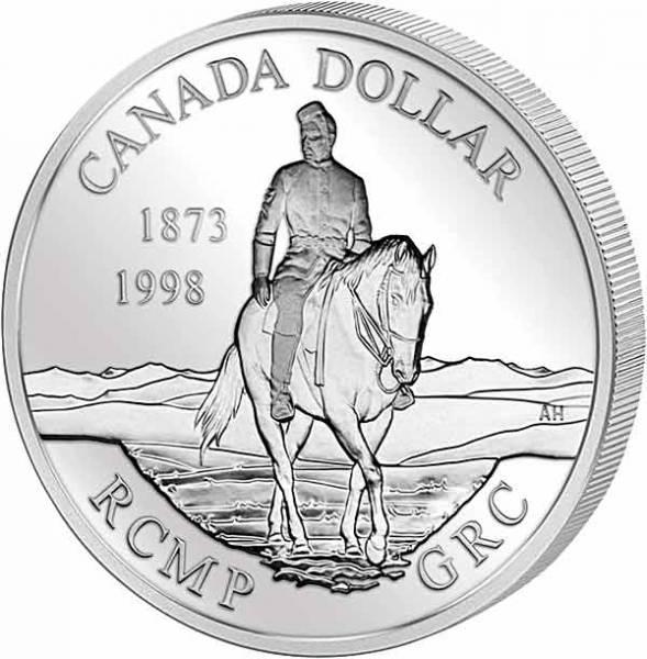 1 Dollar Kanada 125 Jahre Nord-West Mounted Police 1998 Polierte Platte