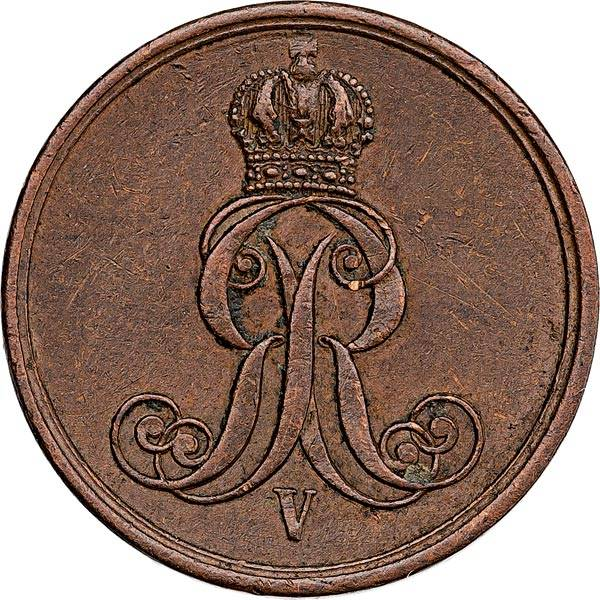1 Pfennig Hannover König Georg V. 1858-1863