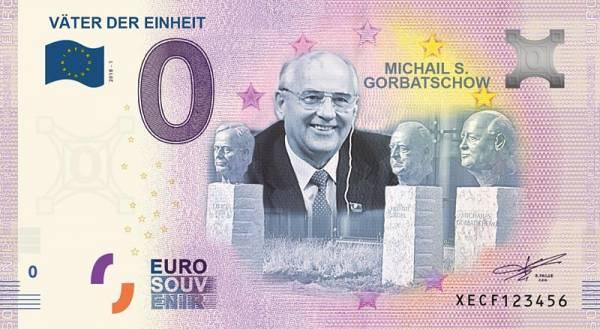 0-Euro-Banknote Michail S. Gorbatschow Väter der Einheit 2018