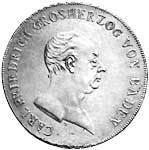 Taler Konventionstaler Großherzog Carl Friedrich 1809-1811 Sehr schön