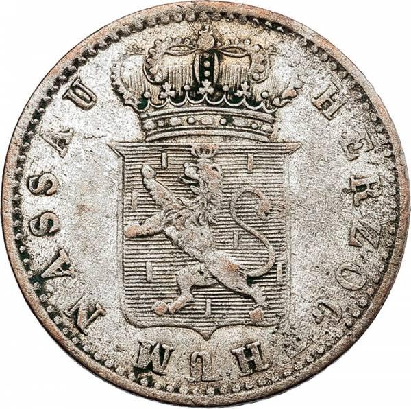 6 Kreuzer Nassau Herzog Adolf 1840-1855