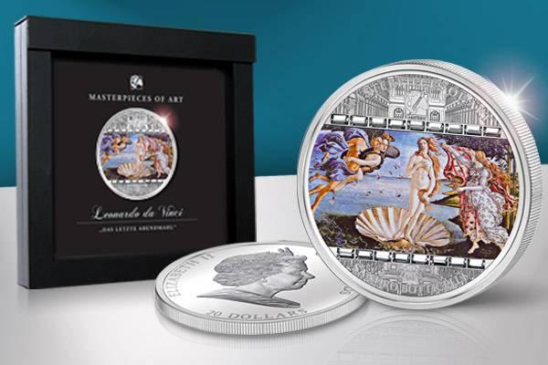 20 Dollars Cook Inseln Sandro Botticelli Die Geburt der Venus 2008 Polierte Platte