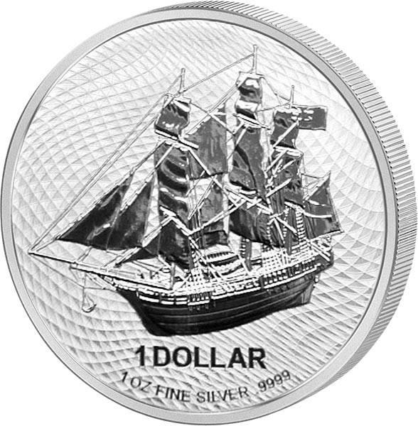1 Unze Silber Cook-Inseln Bounty 2020