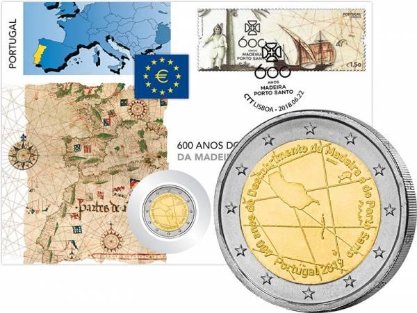 2 Euro Numisbrief Portugal 600 Jahre Entdeckung Madeira 2019