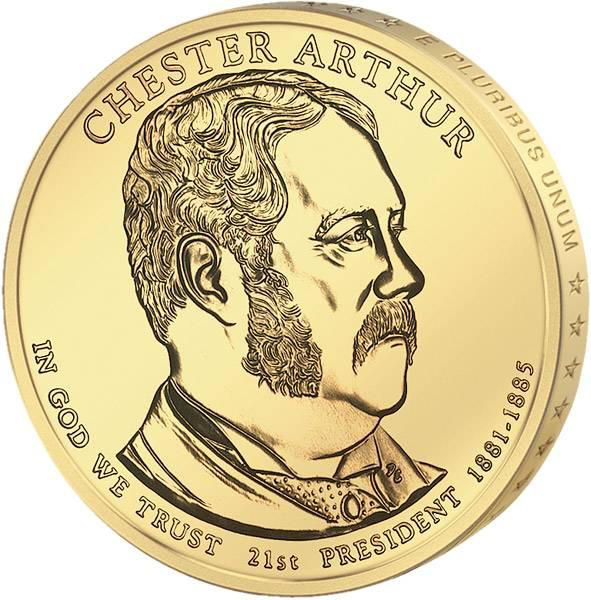 1 Dollar  USA 2012 Chester Arthur  2011  Stempelglanz