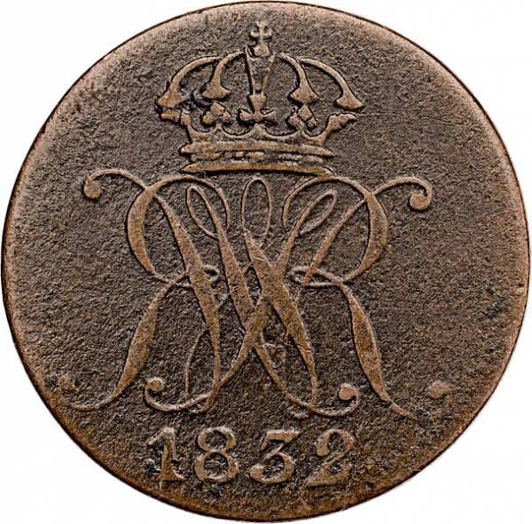 1 Pfennig Hannover König Wilhelm IV. 1831-1834
