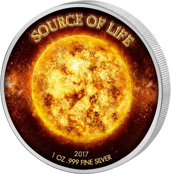 1.000 Francs Benin Quelle des Lebens Sonne 2017