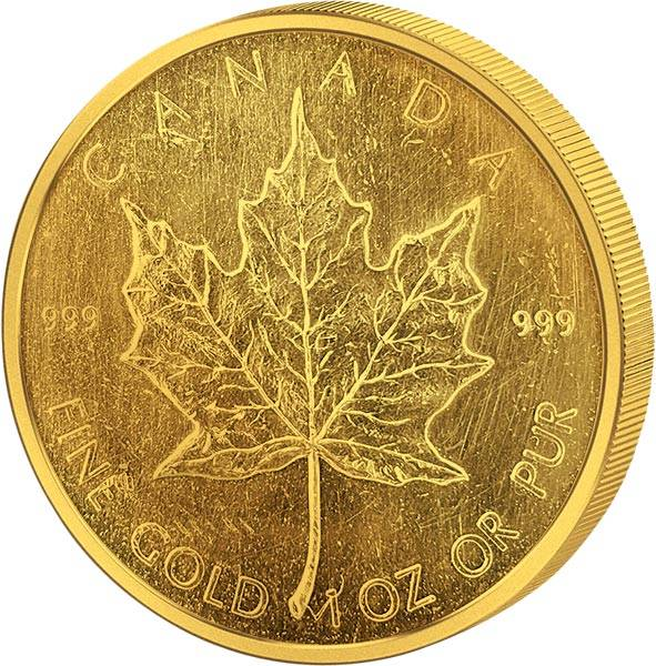 1 Unze Gold Kanda Maple Leaf JuW