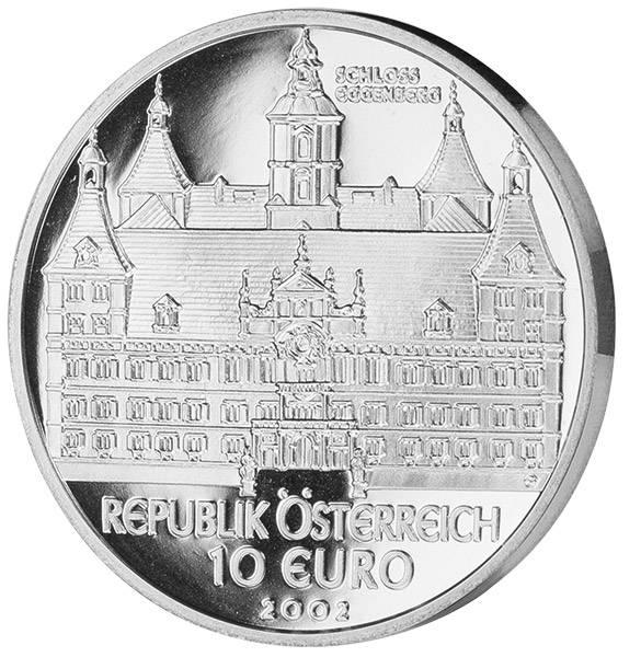 10 Euro Österreich Schloss Eggenberg 2002