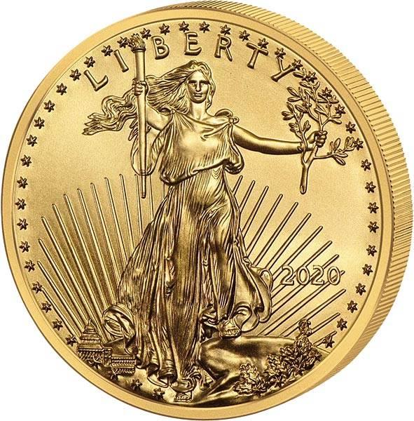 1 Unze Gold USA American Eagle 2020