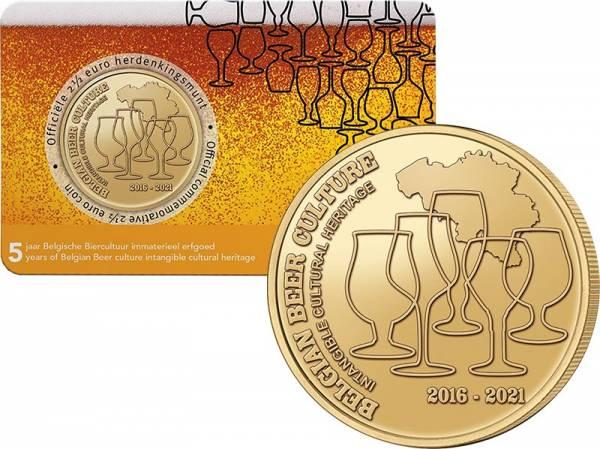 2,5 Euro Belgien Belgische Bierkult 2021