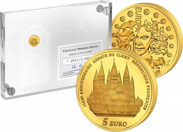 5 Euro Frankreich Abtei von Cluny 2010