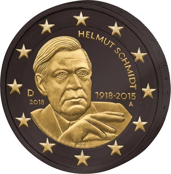 2 Euro BRD 100. Geburtstag Helmut Schmidt Golden Enigma 2018