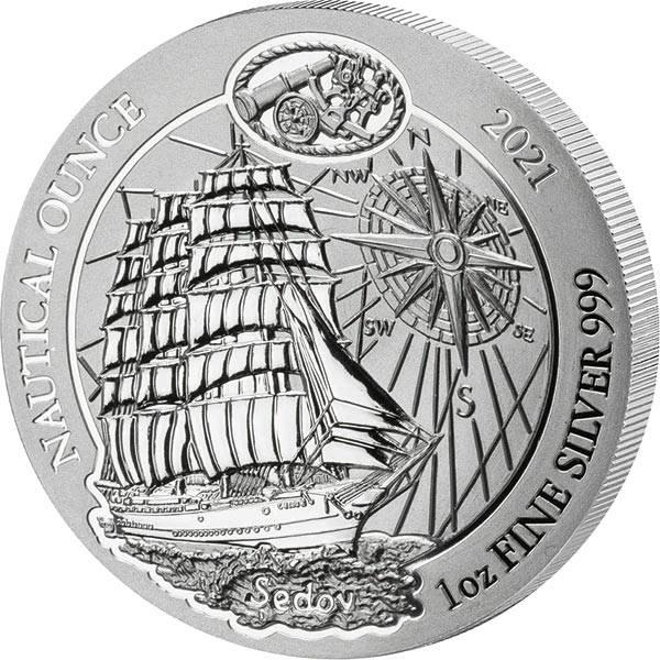 1 Unze Silber Ruanda Segelschiff Sedov 2021