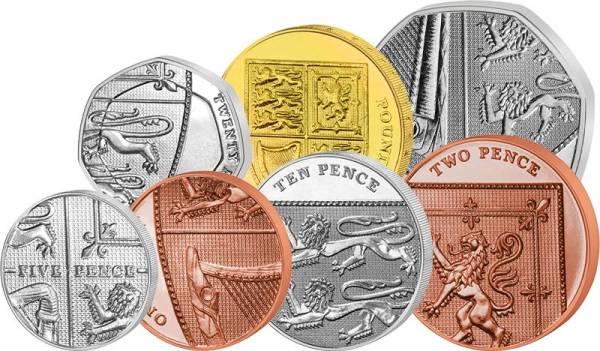 1 Pence - 1 Pound  Großbritannien Kursmünzen 2008 - 2012