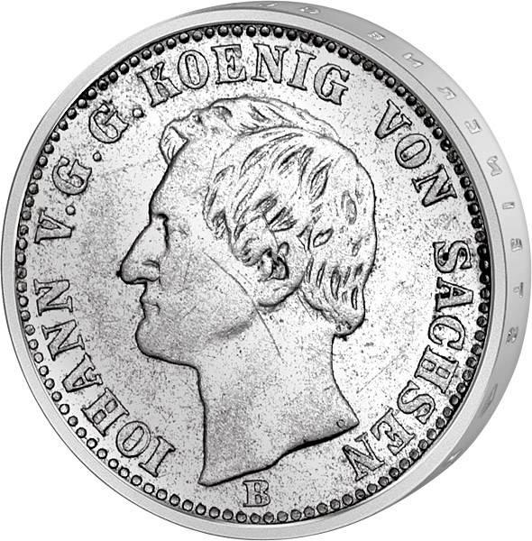 1/6 Taler Sachsen König Johann