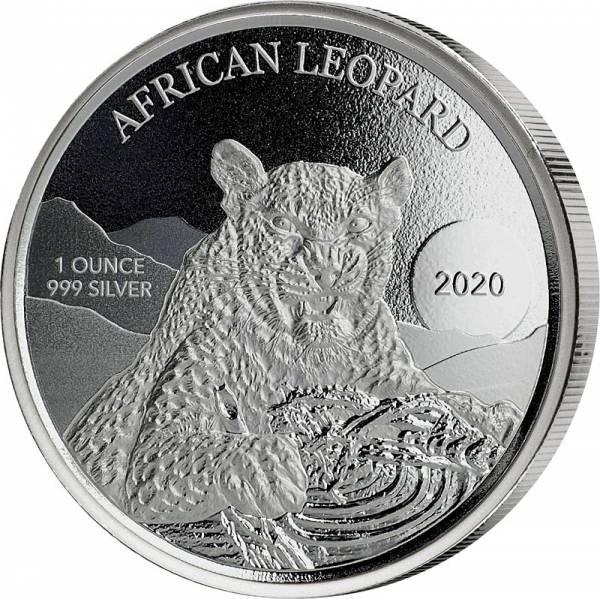 1 Unze Silber Ghana Afrikanischer Leopard 2020