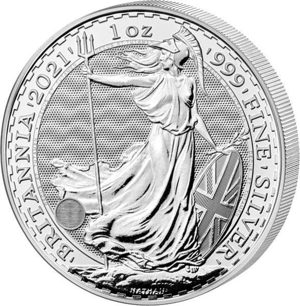 1 Unze Silber Großbritannien Britannia 2021