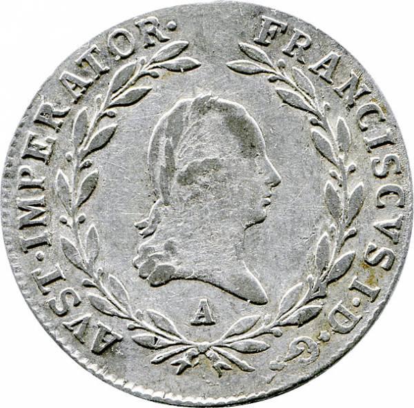 20 Kreuzer Österreich Kaiser Franz I.