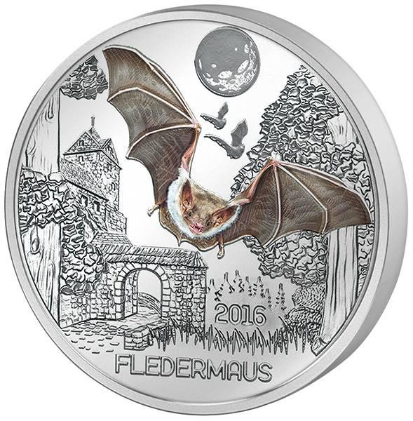 3 Euro Österreich Tier Taler Fledermaus