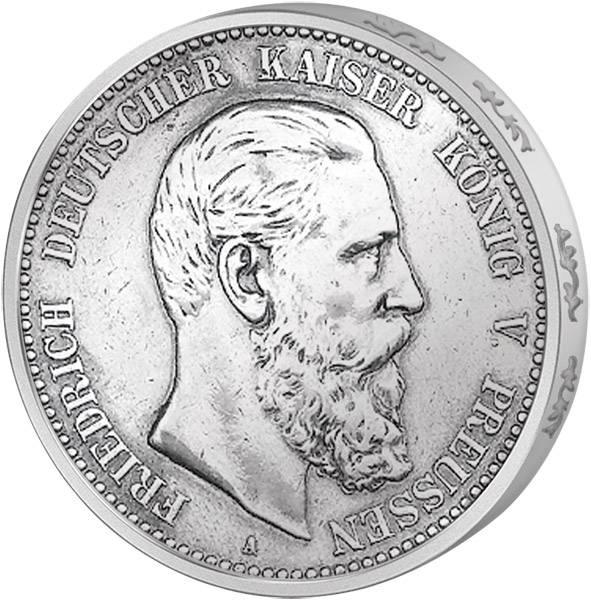 5 Mark Preußen Friedrich III. 1888 Vorzüglich
