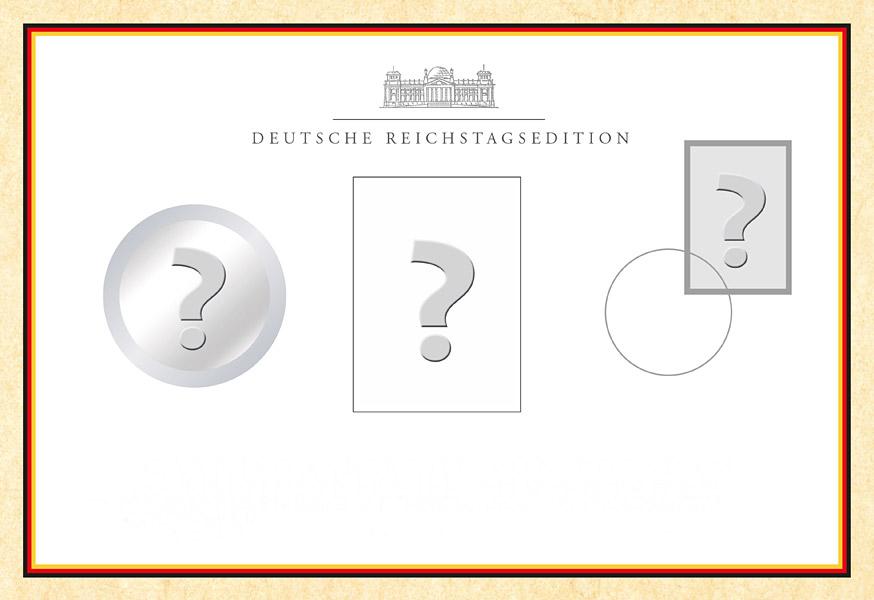 10 Euro Münzen Im Offiziellen Reichstagszertifikat Auf Reppade