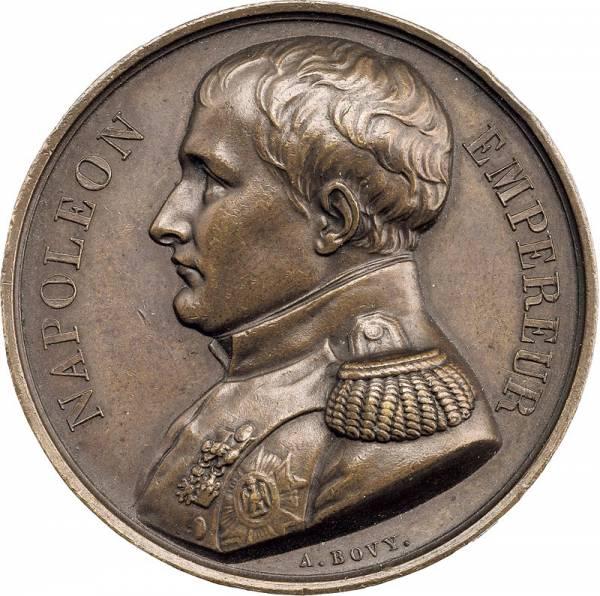 Bronzemedaille Frankreich Napoleons Grabstätte auf St. Helena 1840