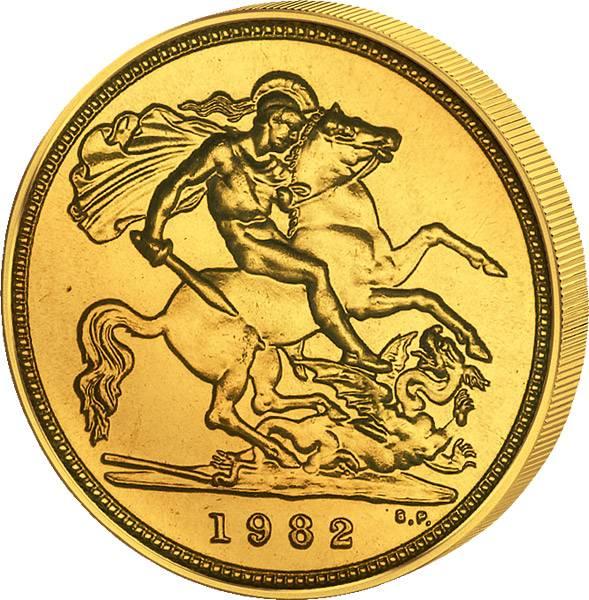 1 Sovereign Großbritannien Queen Elizabeth II. 1974-1982   sehr schön
