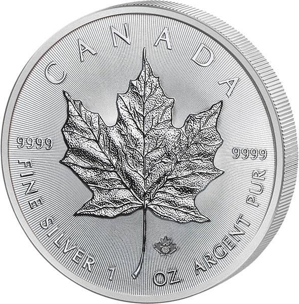 1 Unze Silber Kanada Maple Leaf 2019