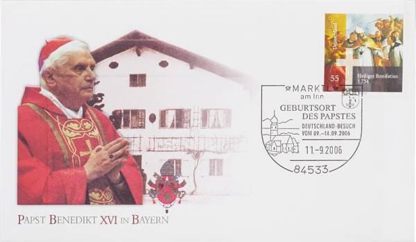 Gedenkbrief BRD Papstbesuch in Bayern
