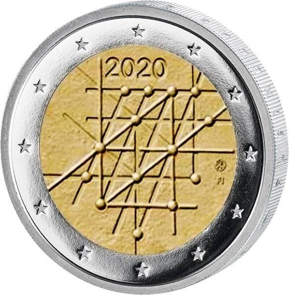 2 Euro Finnland 100 Jahre Universität von Turku 2020