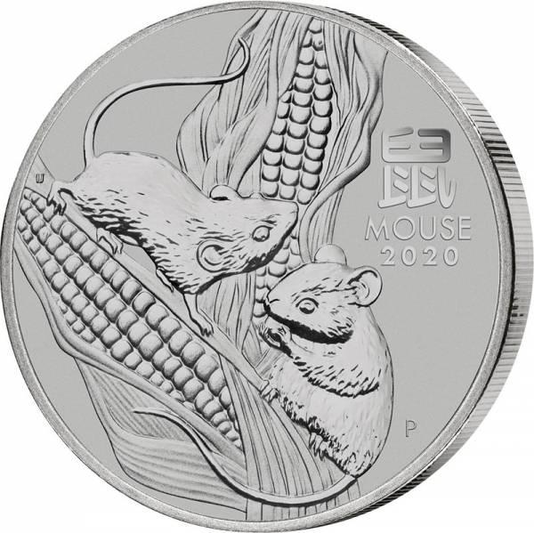 1/2 Unze Silber Australien Jahr der Maus 2020