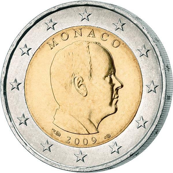 2 Euro Monaco Fürst Albert II. 2009