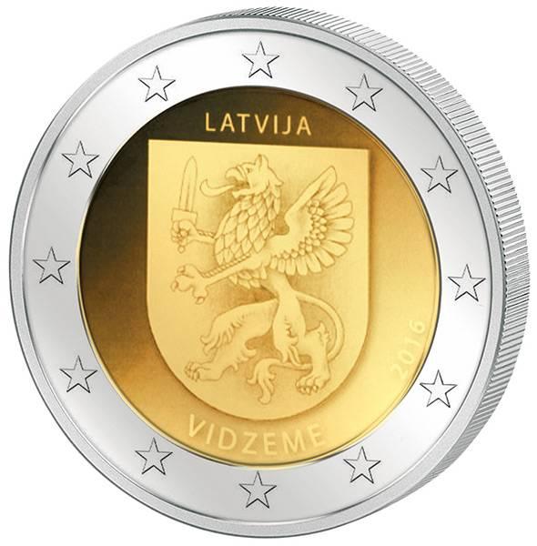 2 Euro Lettland Region Vidzeme