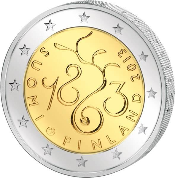 2 Euro Finnland 150 Jahre Sitzung des Parlaments 2013   prägefrisch