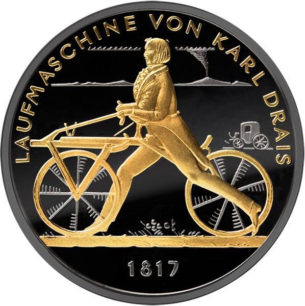 20 Euro BRD Laufmaschine von Karl Drais Golden Enigma  2017