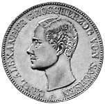 Taler Vereinstaler Carl Alexander 1853-1901 Sehr schön