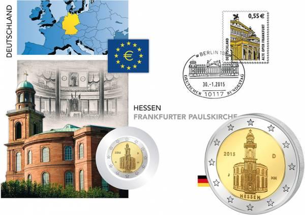 5 x 2 Euro Numisbrief BRD Hessen Paulskirche