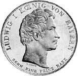 Geschichtstaler Ludwig I. Denkmal zu Aibling 1835 vz-pfr