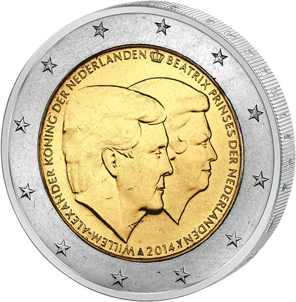 2 Euro Münzen Niederlande Prägefrisch Kaufen Reppade
